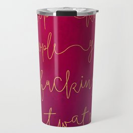 Stop Killing People - Pink & Gold Travel Mug