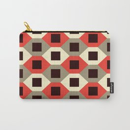 Geometric Pattern #66 (red hexagons) Carry-All Pouch