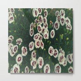 Red & White Flowers Metal Print