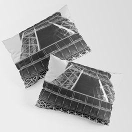 Eiffel Tower // Looking up at the World's Most Famous Monument in Paris France Classic Photograph Pillow Sham