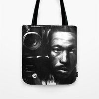 parks Tote Bags featuring GORDON PARKS: Legend by Tia Hank