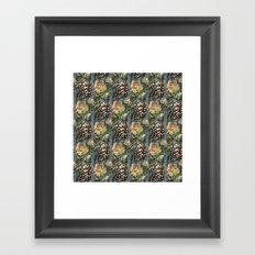 Butterflies and Roses Framed Art Print