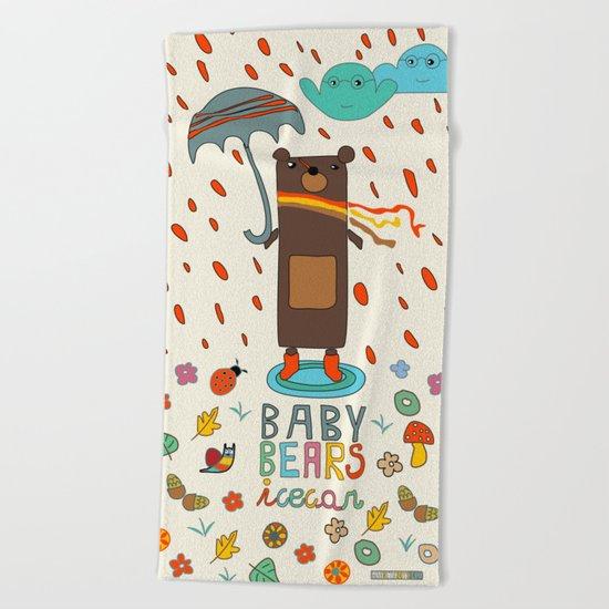 Baby Bears Icecar Beach Towel