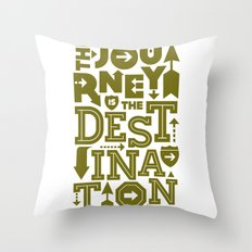 Army Green Journey Quote Throw Pillow
