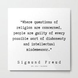 42  |   Sigmund Freud Quotes | 190926 Metal Print