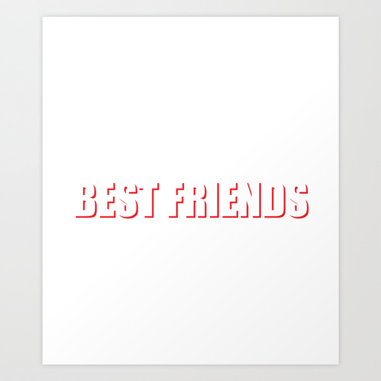 d57d1a6c Best Friends Laugh When You Fall Friendship T-Shirt Art Print by  thewrightsales | Society6