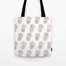 Rose gold pineapples Tote Bag