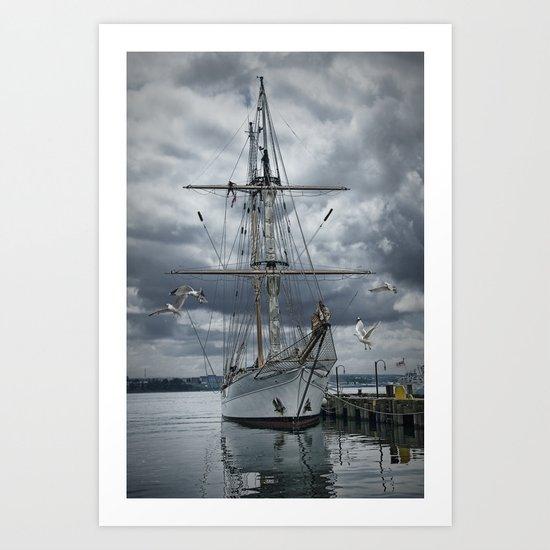 Schooner in Halifax Harbor Art Print
