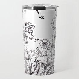 Garden Doodle 2 Travel Mug