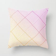 Woven Diamonds in Pink and Orange Throw Pillow
