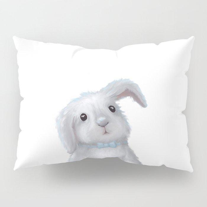 White Rabbit Boy isolated Pillow Sham