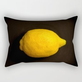 Yellow Lemon On A Black Background #decor #society6 Rectangular Pillow
