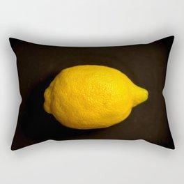 Yellow Lemon On A Black Background #decor #society6 Rectangular Pillow