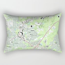 Roswell Georgia Map (1992) Rectangular Pillow