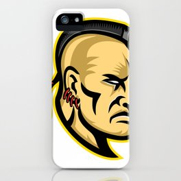 Native American Mohawk Mascot iPhone Case