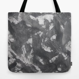 White Chalk and Black Ink Tote Bag