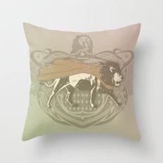 Fearless Creature: Leeoh Throw Pillow