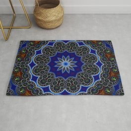 Mandala of rainbow gems Rug