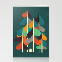 cabin Stationery Cards featuring Cabin in the woods by Picomodi