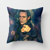 loki Throw Pillows featuring Loki by Sirenphotos