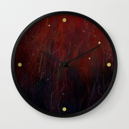 Red Storm Wall Clock