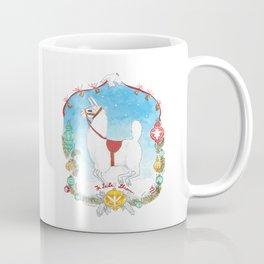 Deck the Halls with Llamas Coffee Mug