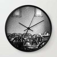 cafe Wall Clocks featuring Cafe by J. Ann Photography