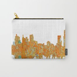 Detroit, Michigan Skyline - Rust Carry-All Pouch