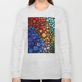 Abstract 1 - Beautiful Colorful Mosaic Art by Sharon Cummings Long Sleeve T-shirt