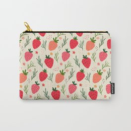 Spring Strawberry Garden Carry-All Pouch