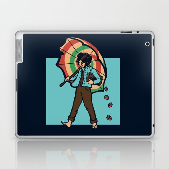 Strawberry Girl Laptop & iPad Skin