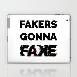 Fakers Gonna Fake Glitch (Shake It Off lyrics) [light] Laptop & iPad Skin