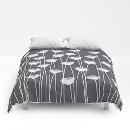 White Poppies Comforters