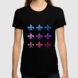 Colorful Fleur de Lis T-shirt