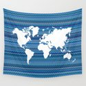 Wavy World Map Blue by fimbis