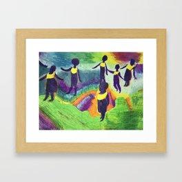 Ghana Dancers Framed Art Print