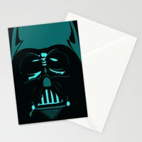 Tron Darth Vader Outline Stationery Cards
