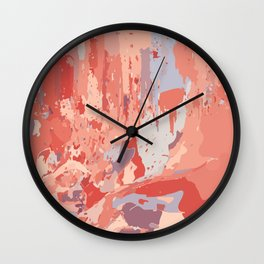 Autumn Abstract Colors Wall Clock