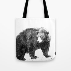 Black and White Bear Tote Bag