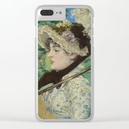 Edouard Manet - Jeanne (Spring) Clear iPhone Case