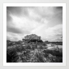 The Wild Horses of Corolla, NC - Black and White Film Photograph Art Print
