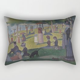 Georges Seurat - A Sunday on La Grande Jatte Rectangular Pillow