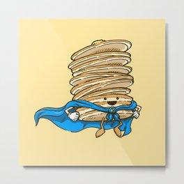 Captain Pancake Descends Metal Print