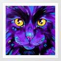 Cats in Colour 2 Purple version by evei