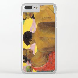 Three Tahitians by Paul Gauguin Clear iPhone Case