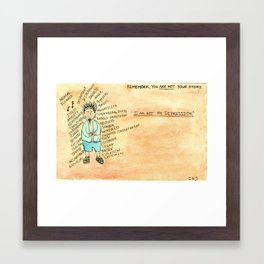 Depression Story Framed Art Print