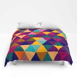 Multicolor triangle shapes pattern Comforters