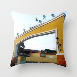 Spanish style entrance @ Rincon Throw Pillow