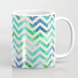 GREEN FLORAL CHEVRON Coffee Mug