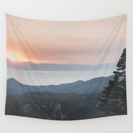Mountain Top View Wall Tapestry